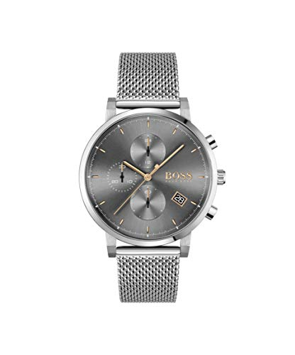 Hugo Boss Chronograaf Quartz Horloge voor heren met RVS Band 1513807