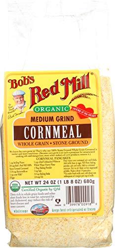 Bob's Red Mill Organic Medium Grind Cornmeal, 24-ounce
