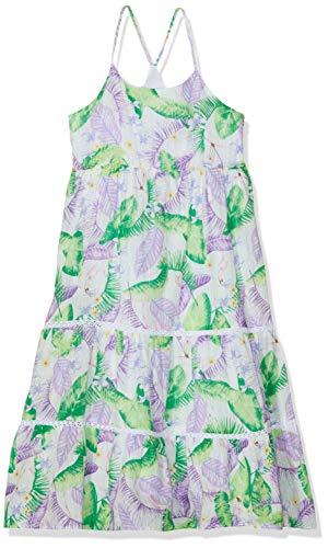 NAME IT Mädchen Nkfjirthe Maxi Dress Kleid, Mehrfarbig (Bright White), (Herstellergröße: 140)