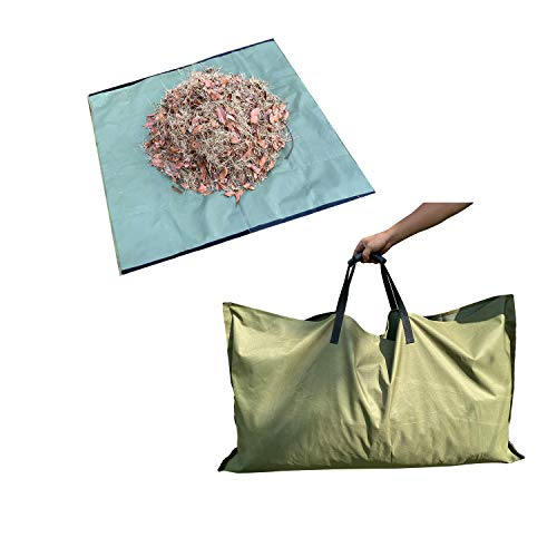SHADE SPRING Yard Waste Tarp Container Reusable Yard Leaf Bag Heavy Duty Garden Waste Bags for Collecting Leaves
