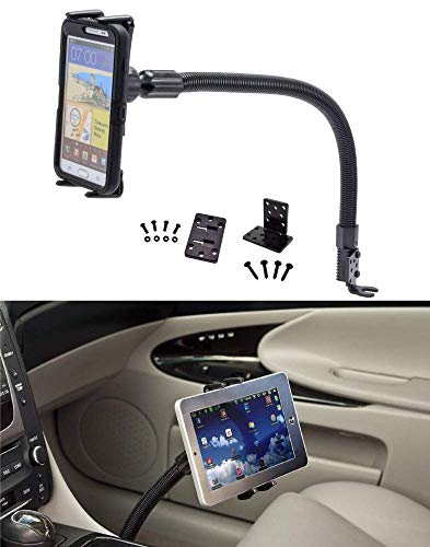 "Premium Seat Bolt Car Mount Vehicle Holder for Samsung Galaxy Tab S3 S4 A E S9 8 S7 Plus Note 9 8 Apple iPad Mini iPhone X 8 7 6 Plus/LG G7 V35 Q8 (5-8"") Phones or Tablets w/Vibration-Free Cradle"