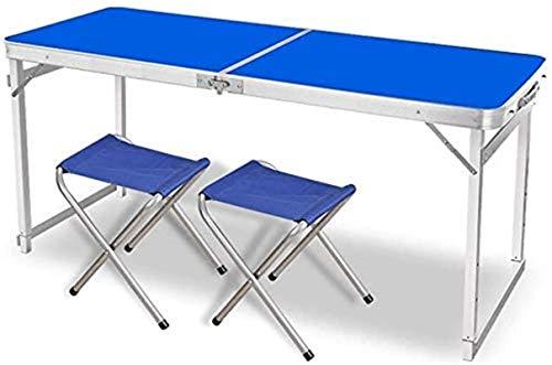 CASTOR Mesa de Picnic al Aire Libre Mesa Plegable de Mesa Ajustable y 2 sillas, Mesa de Picnic de Campamento Plegable al Aire Libre Mesa de Fiesta Barbacoa