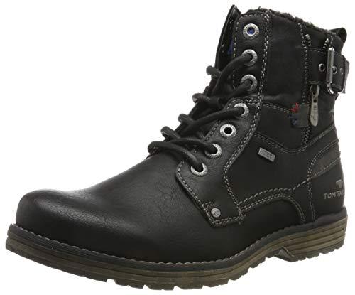 TOM TAILOR Herren 7980806 Klassische Stiefel, Schwarz (Black 00001), 41 EU