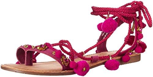 Chinese Laundry Damen Portia Zehenring Sandale, Rosa Wildleder, 35.5 EU