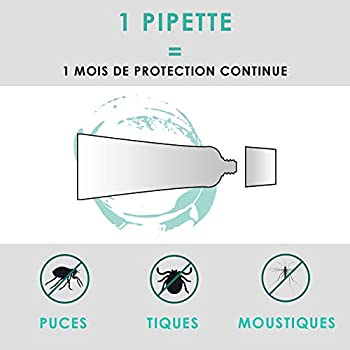 Vétocanis - Pipette Preventis Solution Répulsive Antiparasitaire - 4 Mois sans Tiques, Puces et Moustiques - Chien Moyen 10 à 20 kg - Margosa Répulsif Naturel - X4