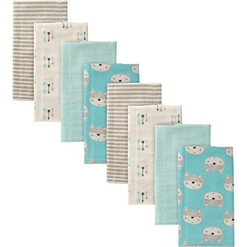 Gerber Baby Boys' 8-Pack Flannel Burp Cloth, Fox, 20' x 14'