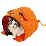 折りたたみペット猫のテントハウス、ペットベッドキャンプ旅行ホーム猫犬犬小屋ケージ猫トンネル、かわいい動物のスタイリング、美しいとファッション30 * 41 * 25cm