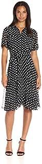 AGB Women's Polka Dot Shirt Dress