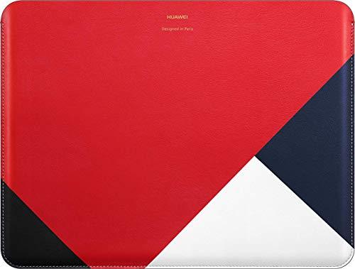 HUAWEI Leder-Schutzhülle 'Colorblocking' passend für MateBook X Pro/MateBook 13, Rot/Schwarz/Weiß, 51992509