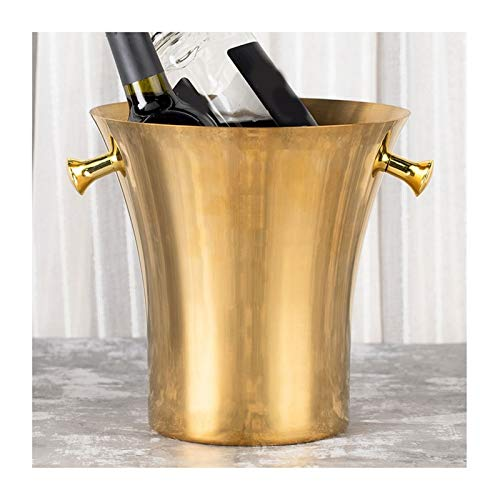 Hielera de pared Cubo de hielo de acero inoxidable Barra de Barra de Cocktail Cubo de hielo Restaurante Inicio Champagne Cubo Bebida Bucket de hielo Jarrón de escritorio Cubo de champán Wine Bucket