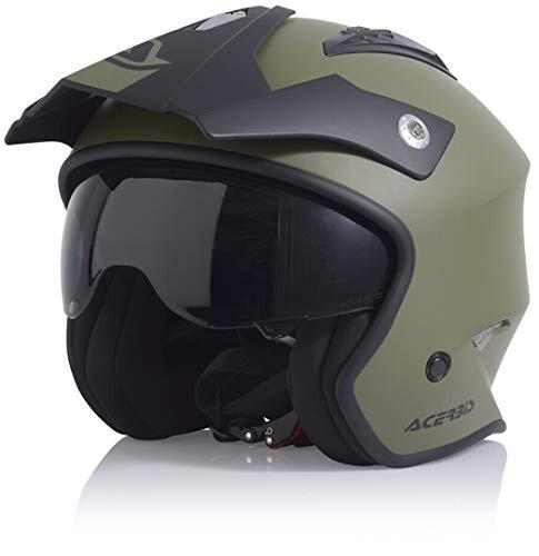 Acerbis Unisex-Adult Aria Jet Helmet, Oliv, M (57/58)