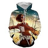 WYCQT Sudaderas Hombres con Capucha,Anime Attack On Titan Sudadera con Capucha Jersey Unisex Deportes De Calle Suéter Abrigo Cómodo Transpirable Multicolor S