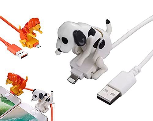 Funny Humping Dog Fast Charger Cable, Dog Toy Smartphone Usb Cable Charger, Dog Charger Protector,Suitable For Various Models Of Mobile Phones,Funny Charger Cable (Orange, iPhone)