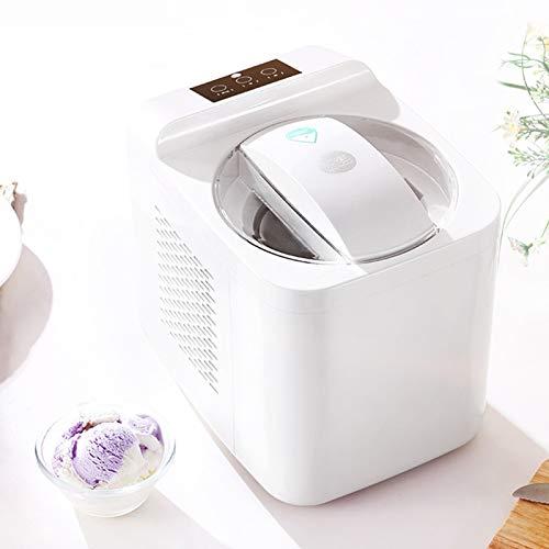 MNCYGJ Eismaschine 1L Speiseeisbereiter Softeismaschine Für Zuhause, Kein Vorfrieren Erforderlich Vollautomatische Eismaschine Selbstkühlend, Für Frozen Yoghurt, Sorbet Und EIS, Inkl. Rezepte