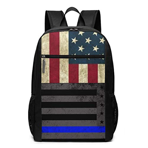 American Flag Best HD 17 Inch Laptop Backpack Large Travel Pringting Backpack Computer Business College School Bookbag Water-Repellent Comfy Casual Daypack with Mesh Pockets