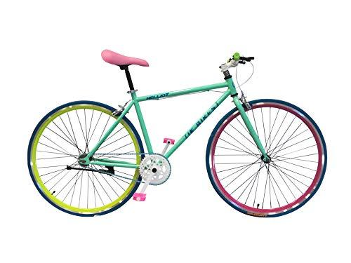 Helliot Bikes Soho 01 Bicicleta Fixie Urbana, Adultos Unisex, Azul, M-L