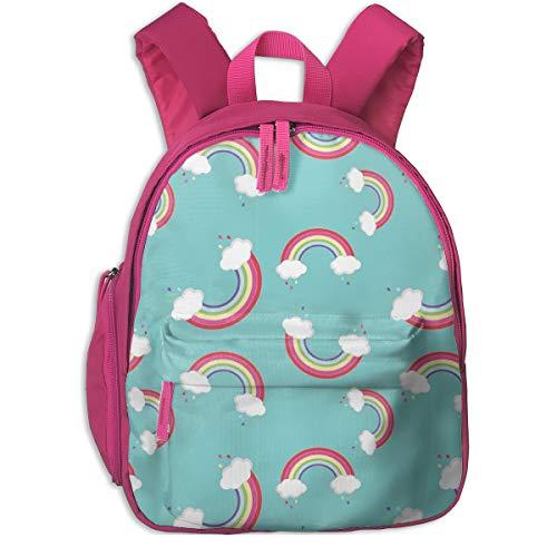 Mochila Infantil niña,¡Arco Iris para niños_5777 - Koko_Bun, para escuelas de niños Oxford (Rosa)