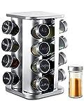 Especiero Giratorio 360° con 16 Botes para Especias - Con Etiquetas y Rotulador Borrable - Organizador de Condimentos