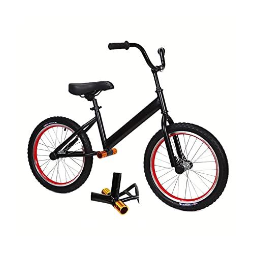 JLXJ Bicicleta Sin Pedales Equilibrio Grande Negro Bicicleta de Equilibrio con Neumáticos de Aire de 18 Pulgadas, para Grandes Niños/Niños/Niñas/Adultos, No Bicicletas de Pedales, Diseño de Reposapié