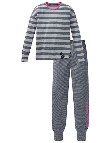 Schiesser Mädchen Anzug lang Zweiteiliger Schlafanzug, Grau (Grau-Mel. 202), (Herstellergröße: 140)