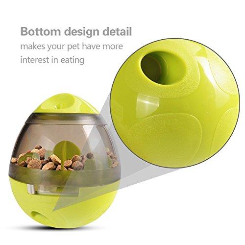 Ewolee Hundespielzeug Ball, Tumbler Spielzeug Haustierfutter Spielzeug Ball ungiftig Bite resistent Spielzeug Ball Intelligentere Interaktive IQ-Behandlung-Kugel Langlebiger Hundespielball - 3
