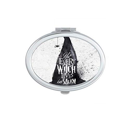 DIYthinker Tinte Effekt Wizard Hat Halloween Hexe Oval Kompakt Make-up Taschenspiegel Tragbar Niedliche Kleinen Hand Spiegel Geschenk