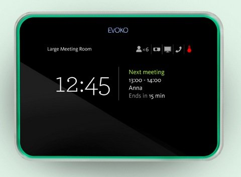 Evoko Room Manager - Conference Room Scheduling Display for Exchange, Office 365, Gmail or Lotus Domino