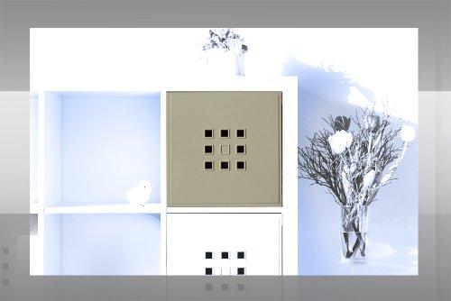 Designer Regaltür als Facheinsatz ca. 33,6cm x 33,6cm * silbergrau