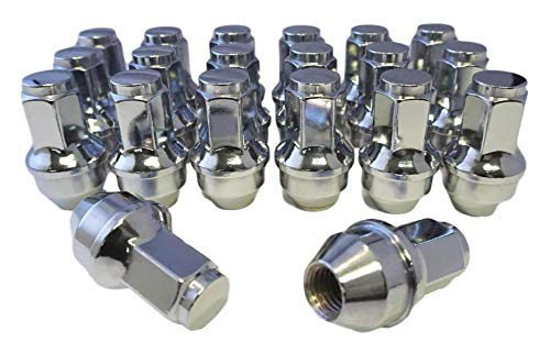 Set of 24 Eisen 14x2.0 One-Piece Chrome OEM Factory Style Lug Nuts for 2000-2014 Ford F-150 F150 Expedition Lincoln Navigator Factory Stock Wheels