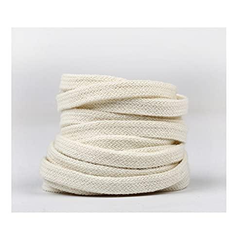 JCGZ Zapatos de Lona para Hombres y Mujeres Cordones, Material Grueso de algodón Puro, Textura Retro, Accesorios de Zapato de Cordero Duradero (Color : Beige, Tamaño : 140)