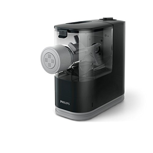 Philips Compact Pasta and Noodle Maker with 3 Interchangeable Pasta Shape Plates -  Black - HR2371/05