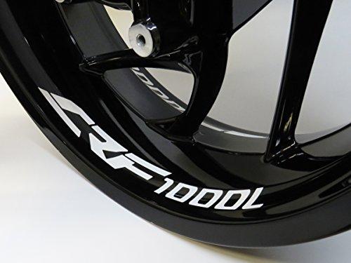 790007-VA - Set di 4 adesivi per cerchioni CRF-1000-L adatti per moto Honda
