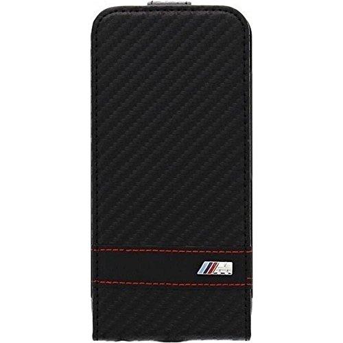 BMW - Custodie (flap case) in Carbonio per Apple iPhone 6 4'7 Pollici, Nero