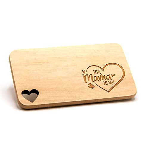 Donari Holzbrettchen mit Gravur und edler Geschenkverpackung | Holzbrett mit Gravur | Geschenk für Mama | Geschenkideen für Mama | Geschenke für Mütter