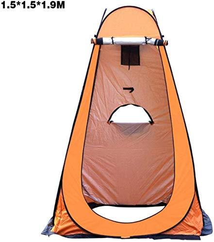 LIKEJJ Tente de toilette portable, portable, pour vestiaire, extérieur, pêche, intimité, pique-nique 1.5 * 1.5 * 1.9 beige