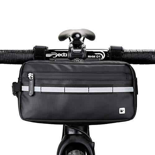Rhinowalk Fahrrad Lenkertasche Wasserdicht Rahmentasche Oberrohrtasche Fahrradtasche Umhängetasche Handtasche für Sport Fahrrad, Professionelles Fahrradzubehör