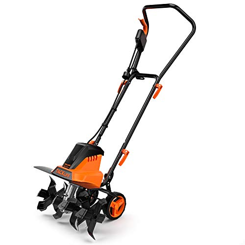 Read About TACKLIFE Electric Tiller, 13.5 Amp Tiller Cultivator, Removable Blade, 2 Working Width(18...