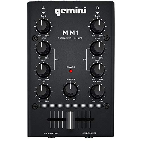 GEMINI MM1 MINI MIXER Platine DJ 2 voies