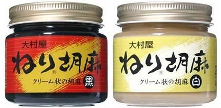ねりごま (白) 130g・ねりごま (黒) 130g×6セット 大村屋 適度に焙煎し、少し粗めにすりつぶした香味豊かなペースト状のゴマ