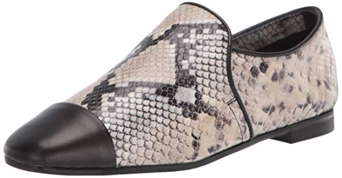 Aquatalia Women's Loafer, Taupe/Black