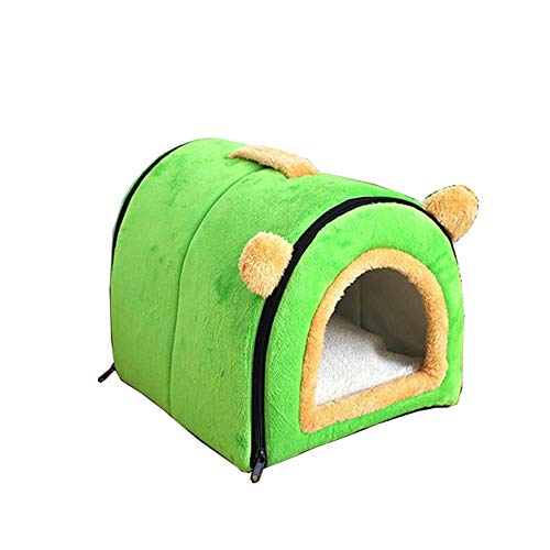 XYBB Cama Perro Camas para Perros Cómodo Gato Cálido Cueva Arco Diseño Puppy House Kennel Fleece Soft Nest para Pequeña...