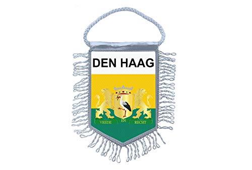Akachafactory Mini banner vlag pennant venster spiegel auto's land banner de haag Nederland