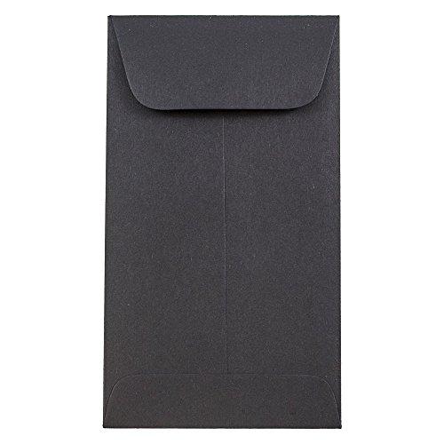 Nero Liscio 79,4 x 139,7 mm JAM PAPER #5,5 Buste Monete Colorate Premium 50//Confezione