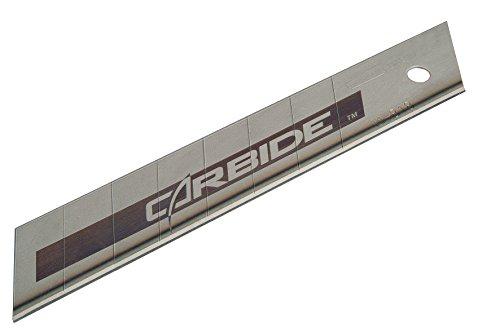Stanley Carbide Abbrechklinge (18 mm Klingenbeite, Wolframkarbid beschichtete Hartmetalllegierung) 10 Stück, STHT2-11818