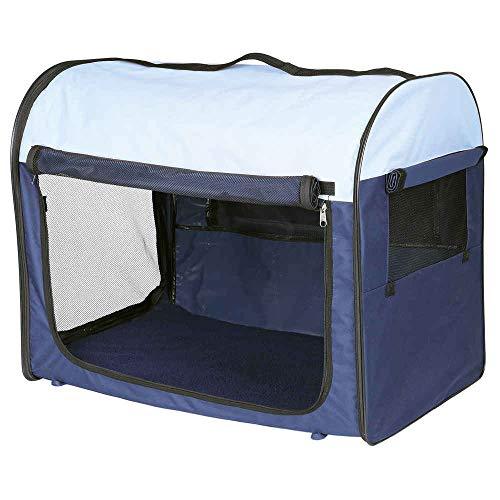 Trixie 39701 Mobile Kennel, XS: 32 × 32 × 47 cm, dunkelblau/hellblau