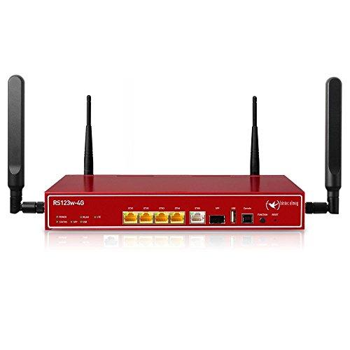 BINTEC RS123w-4G IP Access Router 11n WLAN LTE 4G Tischgerät mit 48,07 cm 19 Zoll Erweiterung inkl. 5 IPSec Tunnel