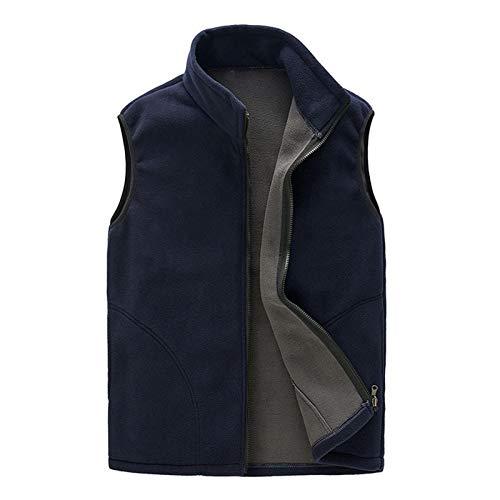 Geilisungren Männer Frauen Paare Outdoor Sport Winter Warm Dick Fleece Weste Ärmellose Taschen Reißverschluss Jacke Mantel