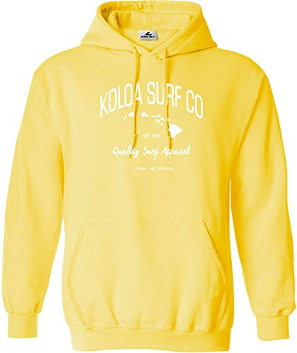 Joe's USA Koloa Islands Logo Hoodie-Hooded Sweatshirt-Yellow/w-XL
