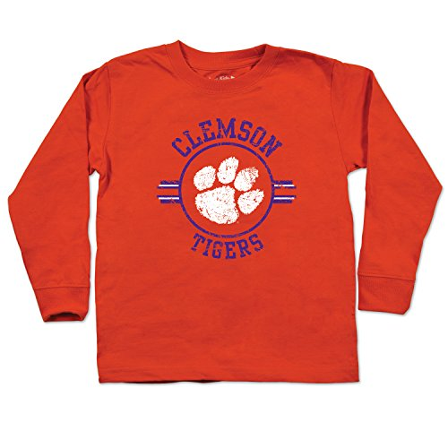 NCAA Clemson Tigers Toddler Long Sleeve Tee, 3 Toddler, Orange