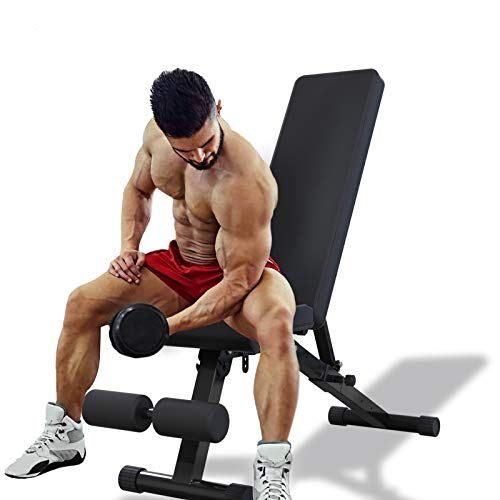 Waful Adjustable Weight Bench, Foldable Utility Strength Training Bench for Full Body Workout, Multi-Purpose Exercise Bench For Home Gym- 2020 Version
